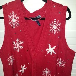 Plus size Karen Scott Christmas sweater vest